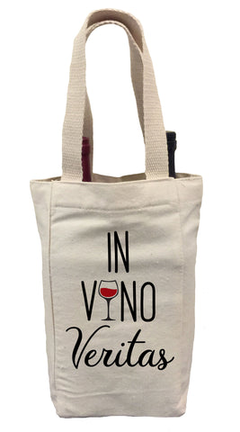 In Vino Veritas Wine Bag, In Vino Veritas Wine Tote , Wine Tote Gift Bag