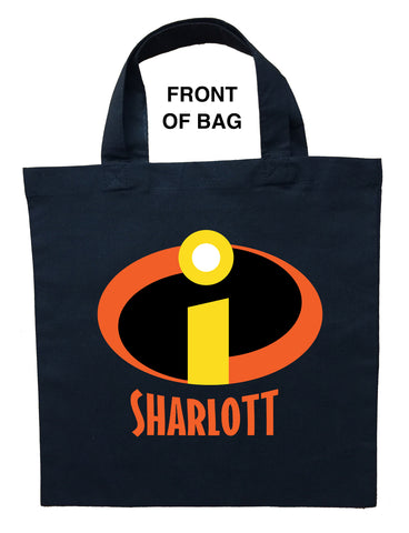 The Incredibles Trick or Treat Bag - Personalized Incredibles Halloween Loot Bag