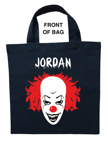 Pennywise Trick or Treat Bag, Personalized It Halloween Bag, Pennywise Loot Bag