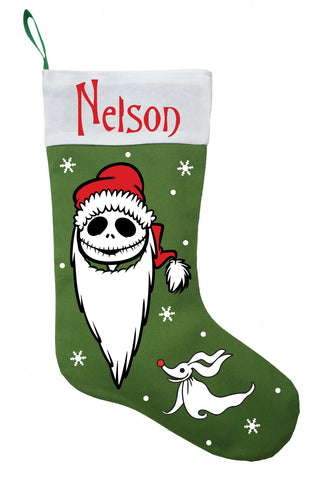 Jack Skellington Christmas Stocking - Personalized and Hand Made Nightmare Before Christmas Stocking