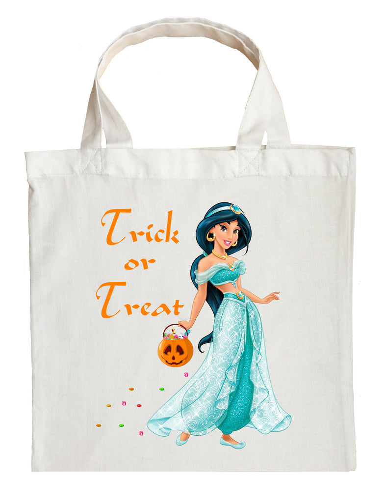 Halloween Trick Or Treat Bags Personalized.Princess Jasmine Trick Or Treat Bag Personalized Aladdin Halloween Bag