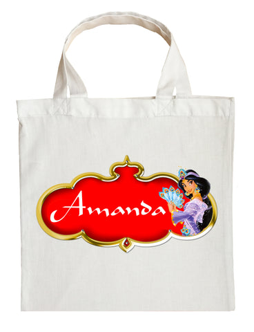 Princess Jasmine Trick or Treat Bag - Personalized Aladdin Halloween Bag