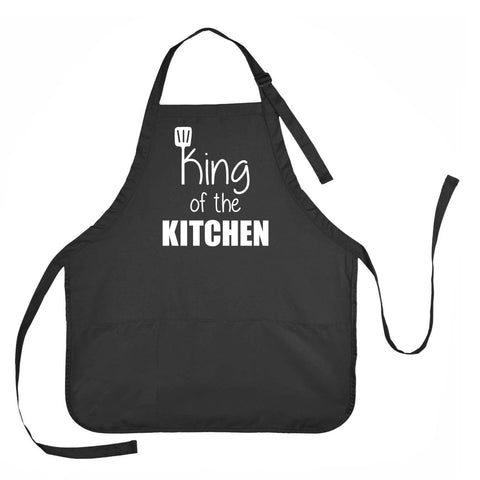 King of the Kitchen Apron, Father's Day Apron, Dad's Kitchen Apron