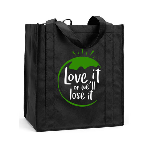 Love It Or We'll Lose It Reusable Shopping Bag, Love the Earth Shopping Bag, Reusable Earth Bag, Reusable Shopping Bag, Love the Earth Reusable Shopping Bag