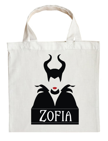 Maleficent Trick or Treat Bag - Personalized Maleficent Halloween Bag