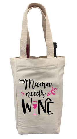 Mother's Day Wine Gift Bag, Mama Needs Wine Gift Bag