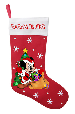 Mickey Mouse Christmas Stocking - Personalized and Hand Made Mickey Mouse Christmas Stocking