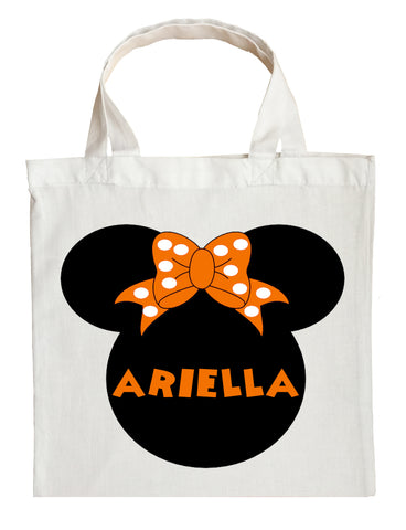 Minnie Mouse Trick or Treat Bag - Personalized Minnie Mouse Halloween Bag
