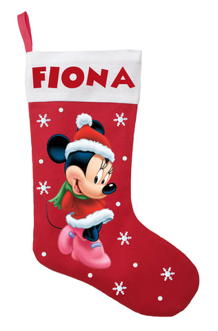 Minnie Mouse Christmas Stocking - Personalized and Hand Made Minnie Mouse Christmas Stocking