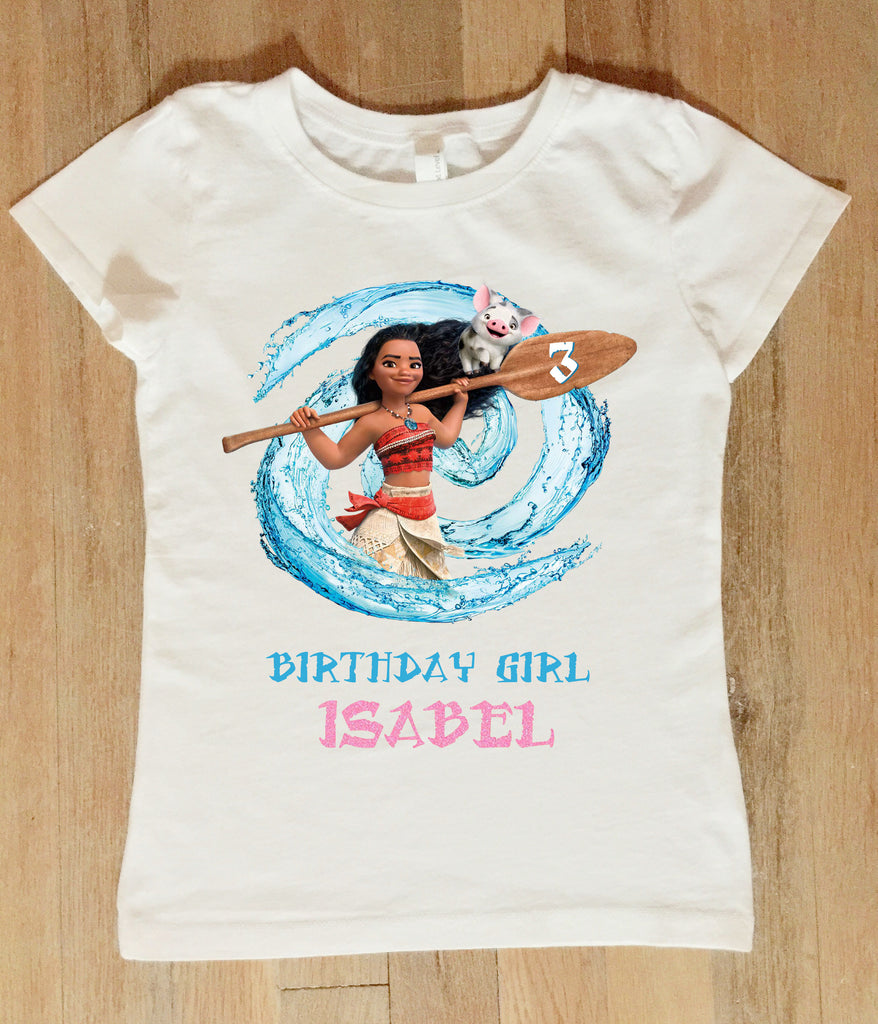 Moana Birthday Shirt Personalized With Name And Age