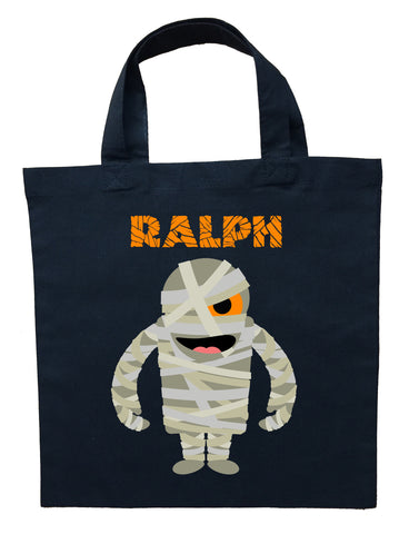 Mummy Trick or Treat Bag - Personalized Mummy Halloween Loot Bag