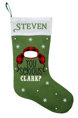 Clark Christmas Stocking - Personalized and Hand Made National Lampoons Christmas Stocking