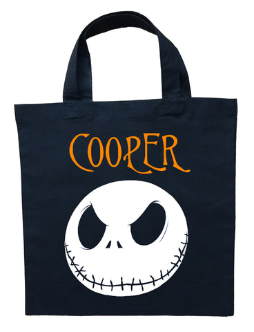 The Nightmare Before Christmas Trick or Treat Bag - Personalized Jack Skellington Halloween Bag