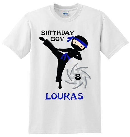 Ninja Birthday Shirt, Personalized Ninja Birthday Shirt with Name and Age