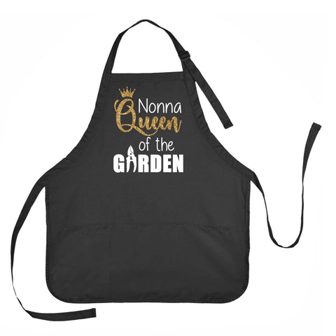 Nonna Queen of the Garden Apron, Apron for Nonna, Gardening Apron for Nonna, Nonna Gardening Apron