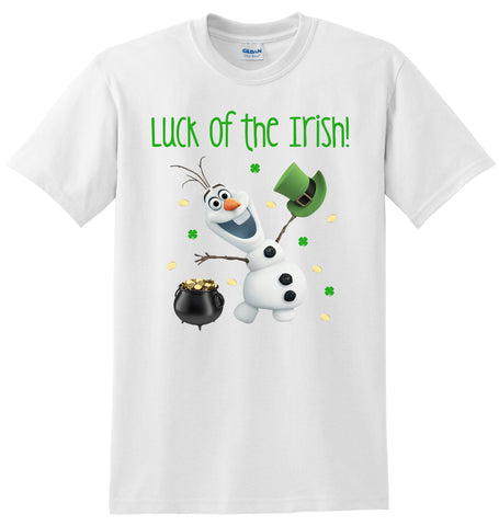 Olaf St. Patrick's Day T-Shirt, Olaf St Patricks Day One Piece Romper