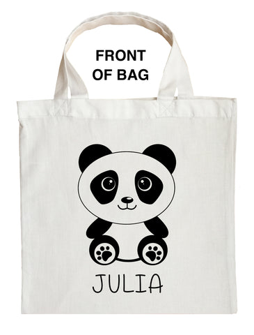 Panda Bear Trick or Treat Bag, Panda Halloween Bag, Custom Panda Bear Bag, Custom Panda Bear Loot Bag