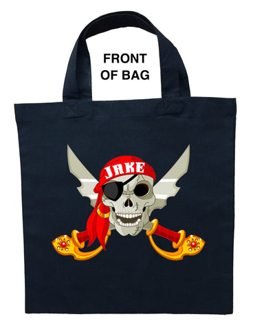 Pirate Trick or Treat Bag - Personalized Pirate Halloween Bag