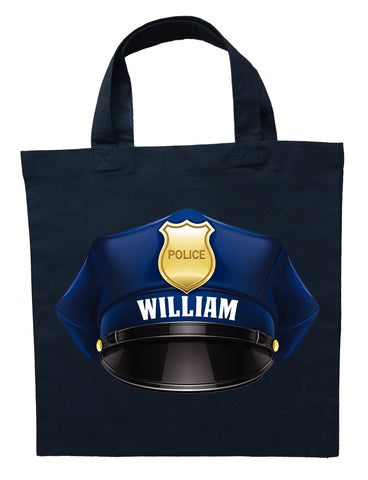 Police Officer Trick or Treat Bag - Personalized Policeman Halloween Bag