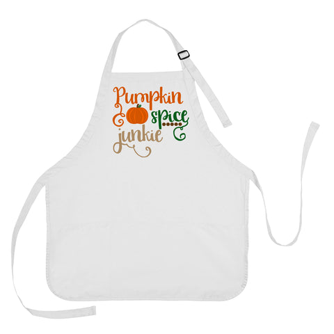 Pumpkin Spice Junkie Thanksgiving Apron, Thanksgiving Cooking Apron, Thanksgiving Present, Thanksgiving Gift, Pumpkin Spice Junkie Apron