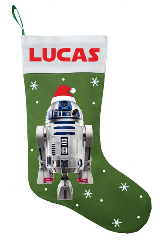 R2D2 Christmas Stocking - Personalized and Hand Made R2D2 Christmas Stocking
