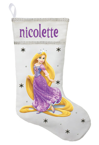 Rapunzel Christmas Stocking - Personalized and Hand Made Rapunzel Christmas Stocking