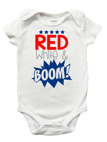 4th of July Shirt for Boys, Red White and Boom Shirt, 4th of July Shirt for Kids