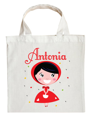 Little Red Riding Hood Trick or Treat Bag - Personalized Little Red Riding Hood Halloween Bag