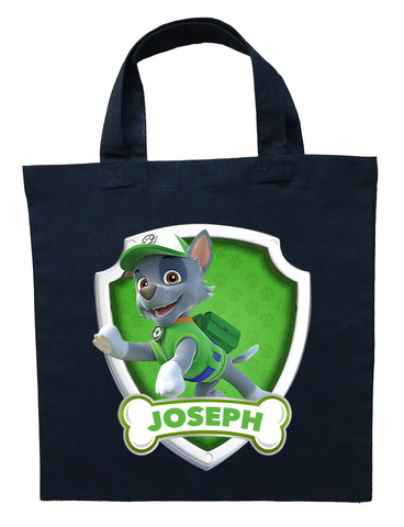 Paw Patrol Rocky Trick or Treat Bag - Personalized Paw Patrol Rocky Halloween Bag
