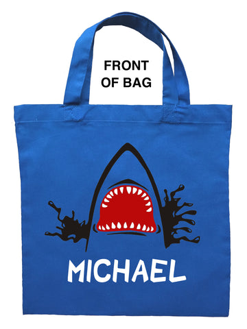 Shark Trick or Treat Bag - Personalized Shark Halloween Bag