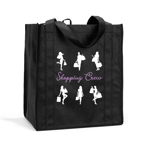 Shopping Crew Shopping Tote, Shopping Crew Reusable Bag, Shopping Crew Shopping Bag, Reusable Shopping Crew Bag