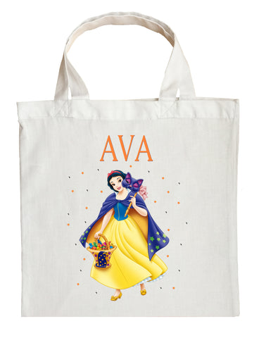 Snow White Trick or Treat Bag - Personalized Snow White Halloween Bag