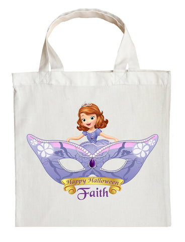 Sofia The First Trick or Treat Bag - Personalized Sofia the First Halloween Bag