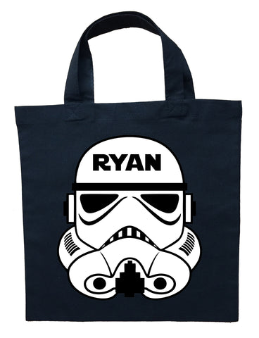 Storm Trooper Trick or Treat Bag - Personalized Storm Trooper Halloween Bag