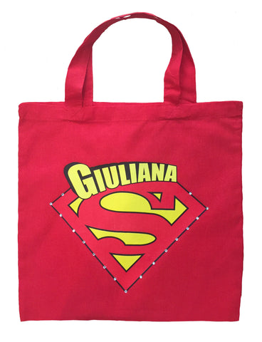 Supergirl Trick or Treat Bag - Personalized Supergirl Halloween Bag