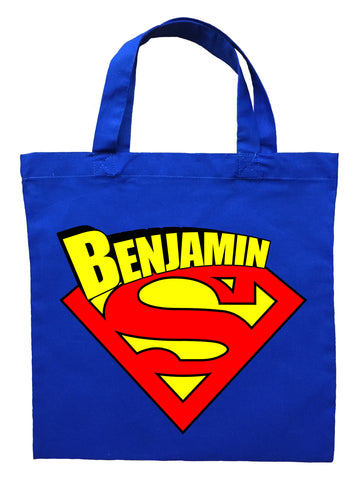 Superman Trick or Treat Bag - Personalized Superman Halloween Bag
