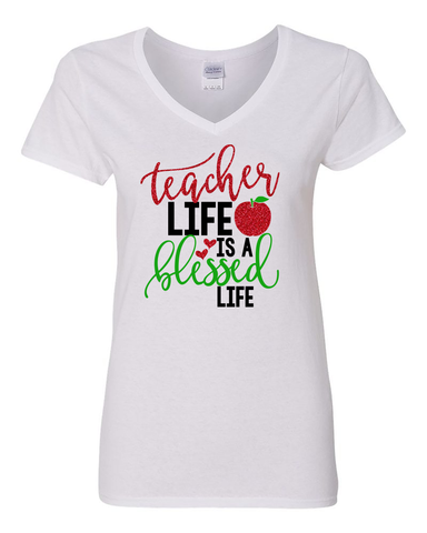Teacher Life is a Blessed Life Shirt, Teacher Appreciation Gift, Shirt for Teachers