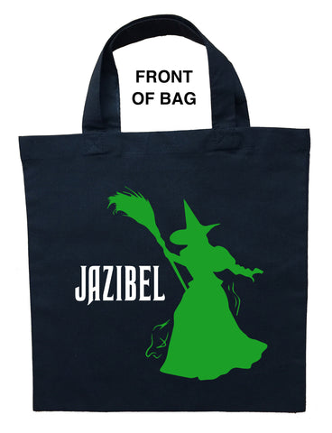 Wicked Witch Trick or Treat Bag, Wicked Witch Halloween Bag, Wicked Witch Loot Bag, Wicked Witch Candy Bag