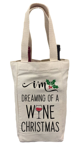 I'm Dreaming of a Wine Christmas Wine Gift Bag, Christmas Wine Gift Bag, Wine Gift Bag