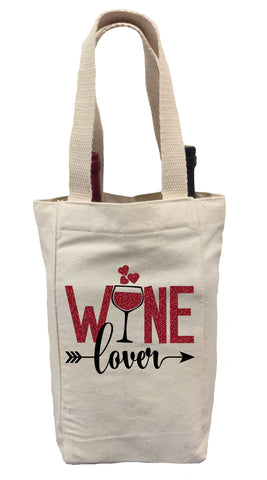 Wine Lover Tote Bag, Valentines Day Wine Bag, Wine Lover Gift Idea, Wine Lover Bag, Valentines Day Gift Wine Bag, Valentines Day Wine Gift