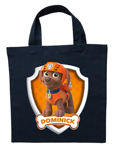 Paw Patrol Zuma Trick or Treat Bag - Personalized Paw Patrol Zuma Halloween Bag