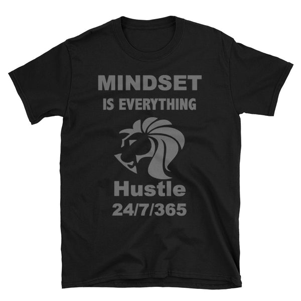 "Our Limited Edition T-shirt ""Mindset Is Everything, Hustle 24/7/365"" Is The Go-to T-shirt For Every Entrepreneur!"