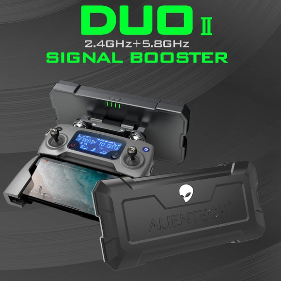 ALIENTECH DUO II Dual band (2.4G & 5.8G) Antenna Signal Booster for all DJI Drones