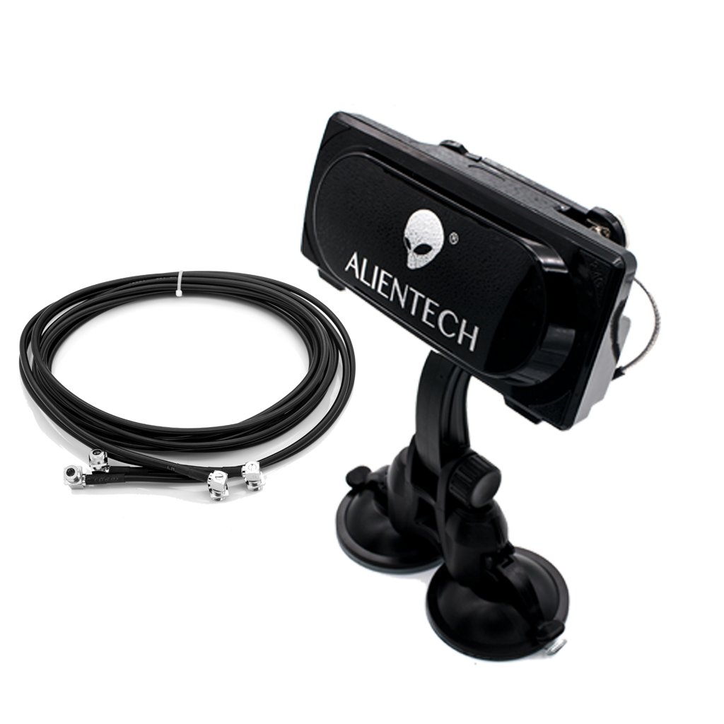 ALIENTECH Extension coaxial cables and bracket with washing disc whice can Fixed on the car roof