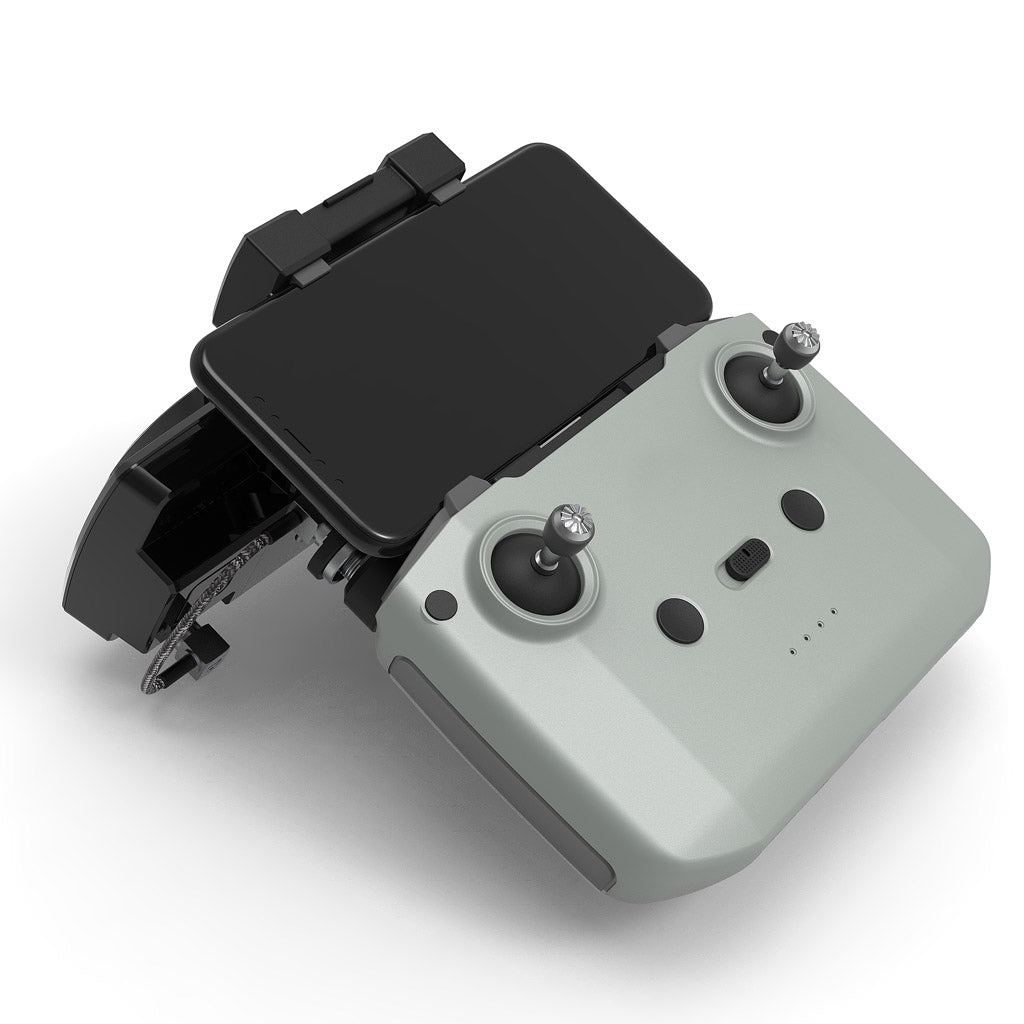 The controller of the modified DJI Mavic air 2 / Mini 2 can be equipped with an external ALIENTECH Pro 2.4G/5.8G antenna signal booster for lang range extend.