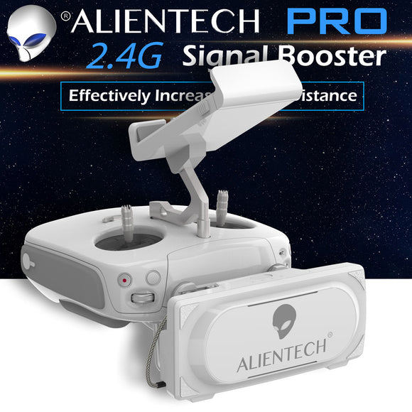 ALIENTECH PRO 2.4G Antenna Signal Booster Range Extender whit amplifier for DJI Phantom 3 / 4 Advanced / Pro / V2.0 / RTK Drones - ALIENTECH