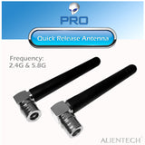 ALIENTECH 2.4G&5.8G Dual frequency antenna of omnidirectional with quick release  for DJI drones