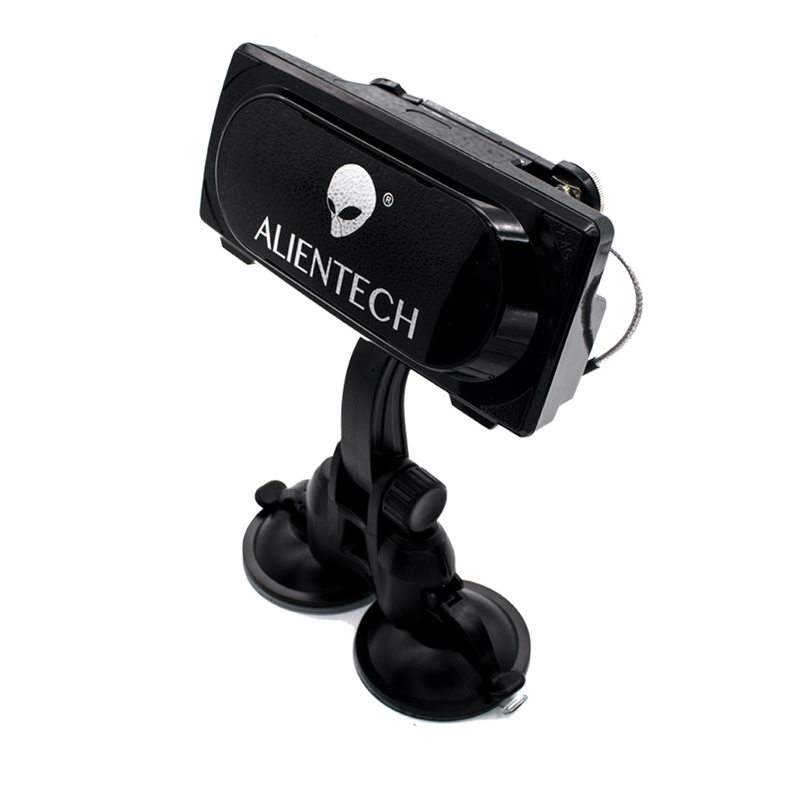 Extension coaxial cables / bracket with two suction cups which can be Fixed on the car roof for ALIENTECH antenna signal booster