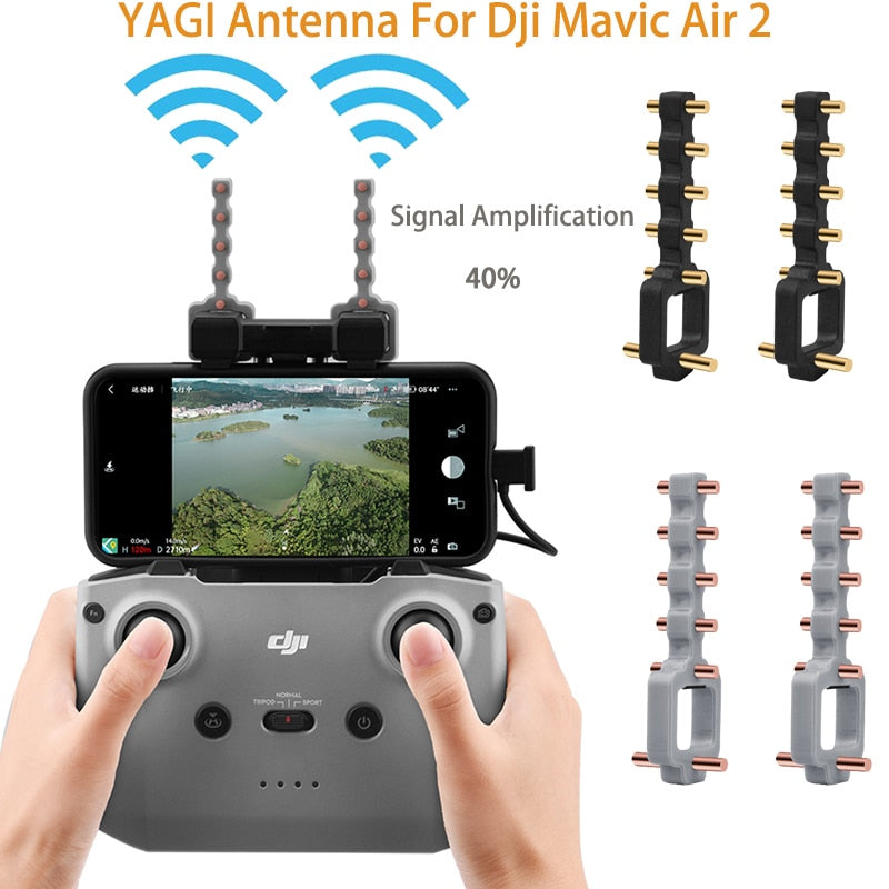 DJI Mavic Air 2 /MIN 2 Signal Booster Yagi Antenna For Mavic Air 2 Extended range Yagi antenna Signal Booster Drone Accessories