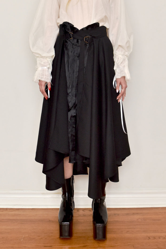 Spring 2019: Silk and Wool Splice Skirt